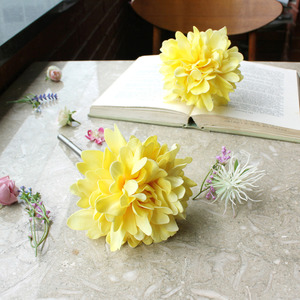 yellow graceful peony flower pen